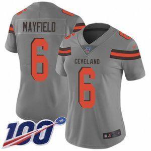 Women Browns Baker Mayfield 100th Season Jersey (3